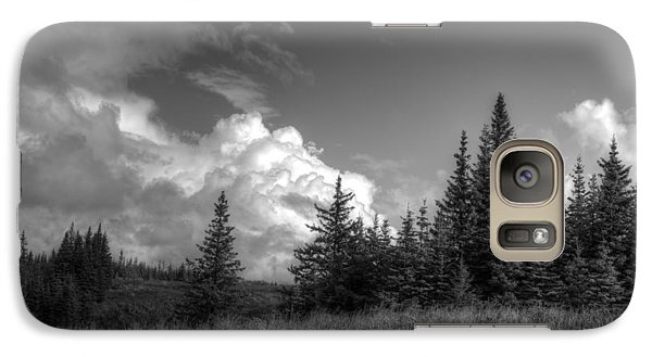 Galaxy Case featuring the photograph Storm Clouds Building by Michele Cornelius
