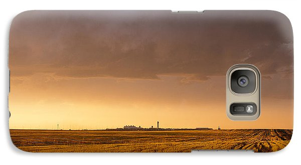 Galaxy Case featuring the photograph Storm Clouds Over Dia by Monte Stevens
