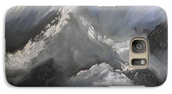Galaxy Case featuring the painting Storm Gathering by Martin Blakeley