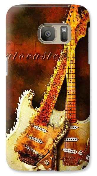 Galaxy Case featuring the mixed media Stratocaster by Robert Smith