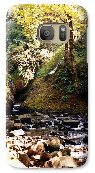 Galaxy Case featuring the photograph Stream Bed Oregon by Maureen E Ritter