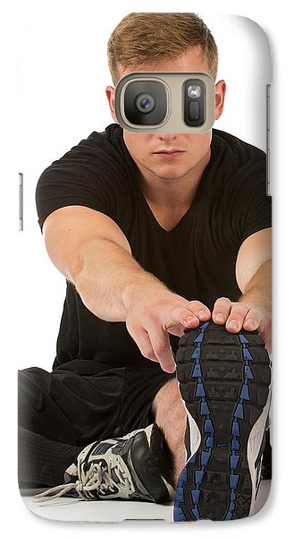 Galaxy Case featuring the photograph Streatching by Jim Boardman