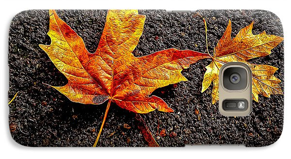 Galaxy Case featuring the photograph Street Leaf by Ken Stanback