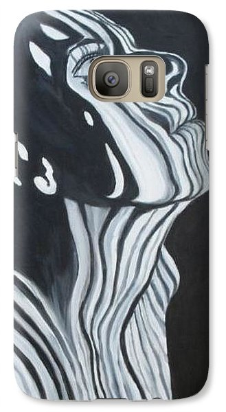 Galaxy Case featuring the painting Stripes by Julie Brugh Riffey