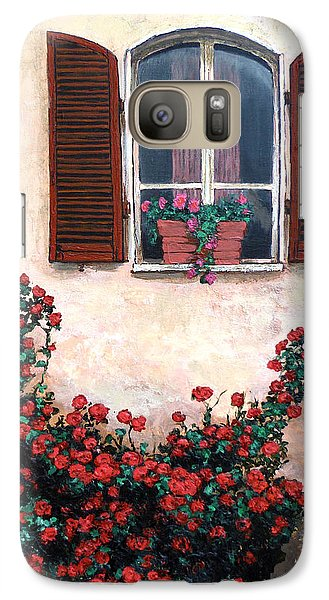 Galaxy Case featuring the painting Studio Window by Tom Roderick