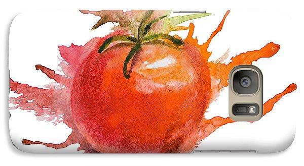 Stylized Illustration Of Tomato Galaxy S7 Case