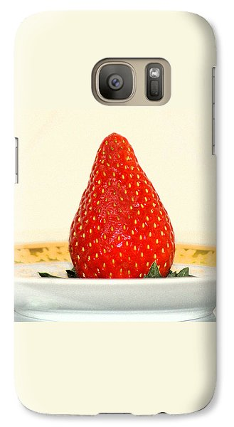 Galaxy Case featuring the photograph Succulent Strawberry by Margie Avellino