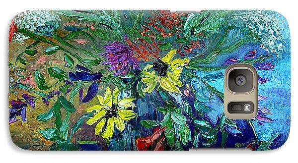 Galaxy Case featuring the painting Summer Bouquet by Carol Berning