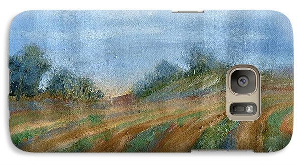 Galaxy Case featuring the painting Summer Fields by Sally Simon