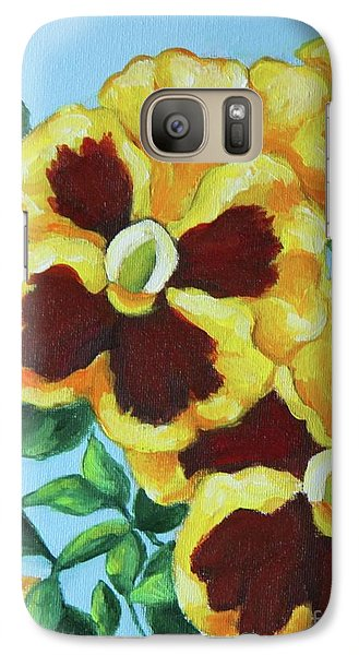 Galaxy Case featuring the painting Summer Pancies by Inese Poga
