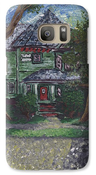 Galaxy Case featuring the painting Summer Sunset On The Greenhouse by Denny Morreale