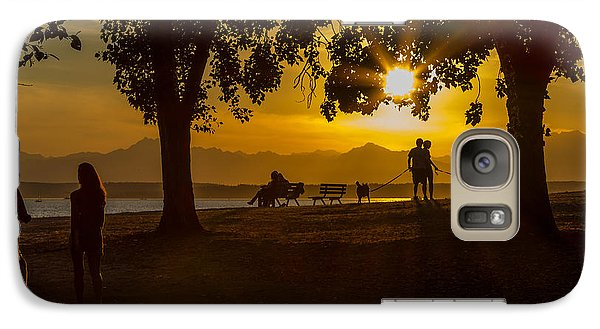 Galaxy Case featuring the photograph Summer's Last Sunset by Ken Stanback