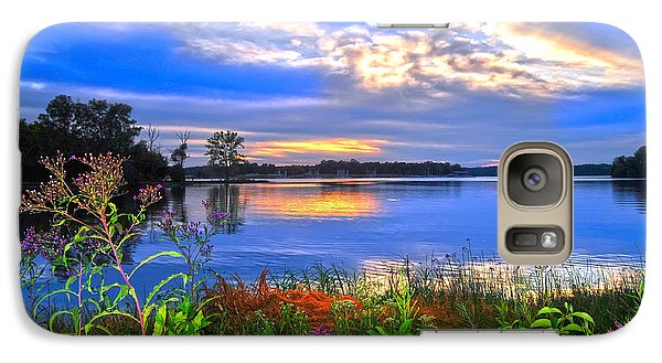 Galaxy Case featuring the photograph Summertime Walk Around Lake  by Randall Branham