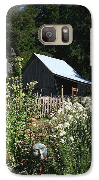 Galaxy Case featuring the photograph Sun Barn by Lorraine Devon Wilke