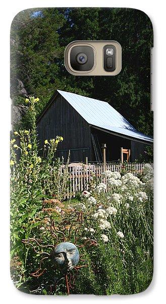 Galaxy Case featuring the photograph Sun Barn by Lorraine Devon Wilke