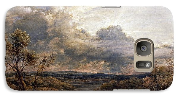 Sun Behind Clouds Galaxy S7 Case by John Linnell