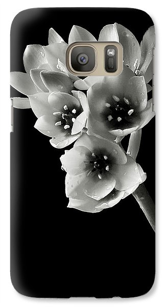 Galaxy Case featuring the photograph Sun Star In Black And White by Endre Balogh