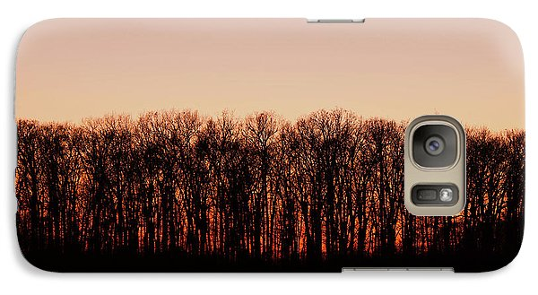 Galaxy Case featuring the photograph Sundown In Silhouette by Rachel Cohen