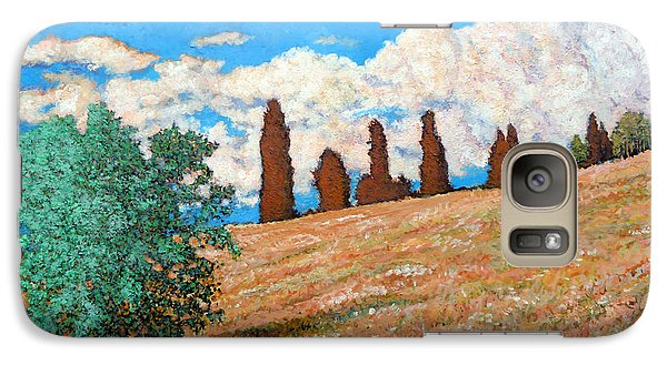 Galaxy Case featuring the painting Sundown by Tom Roderick