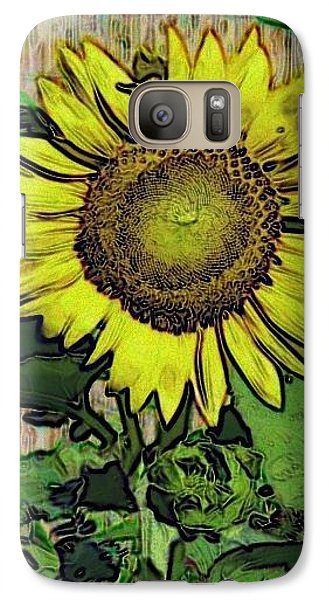 Galaxy Case featuring the photograph Sunflower Face by Alec Drake