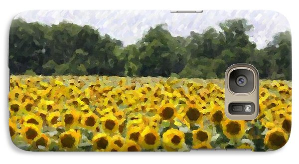 Galaxy Case featuring the photograph Sunflower Field by Donna  Smith