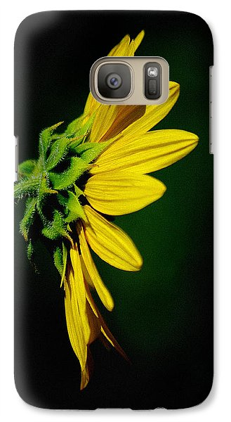 Galaxy Case featuring the photograph Sunflower In Profile by Vicki Pelham