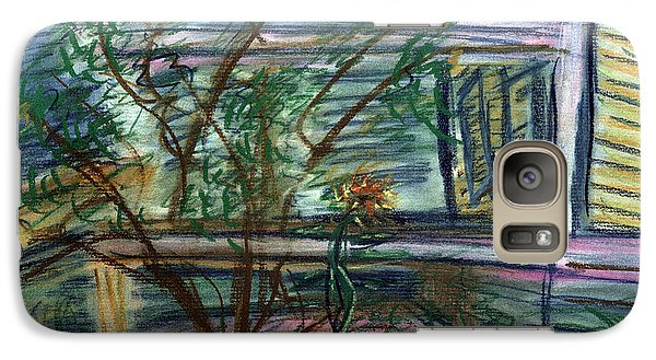 Galaxy Case featuring the pastel Sunflower Under The Lilac by Denny Morreale