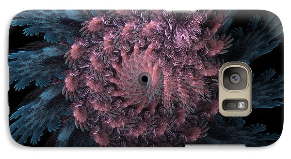 Galaxy Case featuring the digital art Sunflower With A Twist by Kathleen Holley