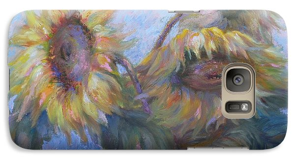 Galaxy Case featuring the painting Sunflowers by Bonnie Goedecke