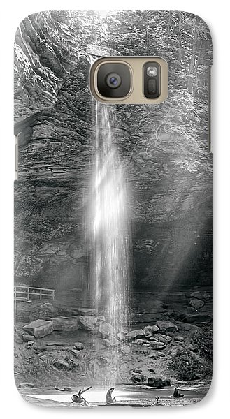 Galaxy Case featuring the photograph Sunlight Falls by Mary Almond