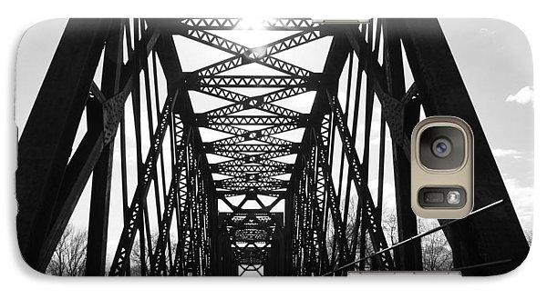 Galaxy Case featuring the photograph Sunlight Through The Peshtigo Train Bridge by Mark J Seefeldt