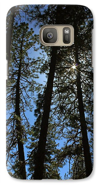 Galaxy Case featuring the photograph Sunlight Through The Pines by Tyra  OBryant