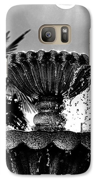 Galaxy Case featuring the photograph Sunny Fountain by Bob Wall