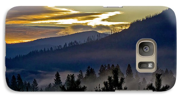 Galaxy Case featuring the photograph Sunrise And Valley Fog by Albert Seger