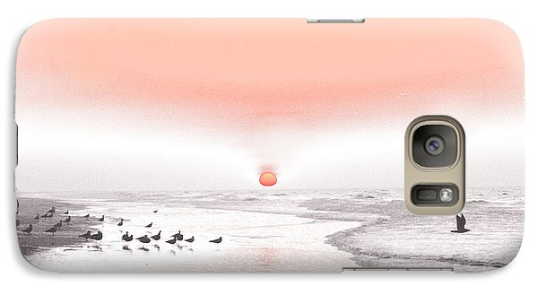 Galaxy Case featuring the photograph Pastel Sunrise Beach by Tom Wurl