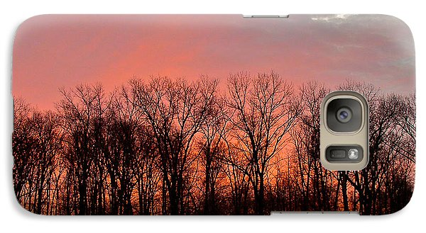 Galaxy Case featuring the photograph Sunrise Behind The Trees by Mark Dodd