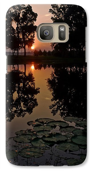 Galaxy Case featuring the photograph Sunrise From My Pad by Dan Wells