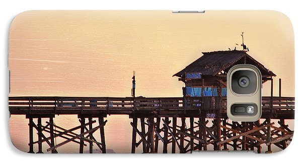Galaxy Case featuring the photograph Sunrise On Rickety Pier by Janie Johnson