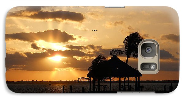 Galaxy Case featuring the photograph Sunrise Over Bay by Clara Sue Beym