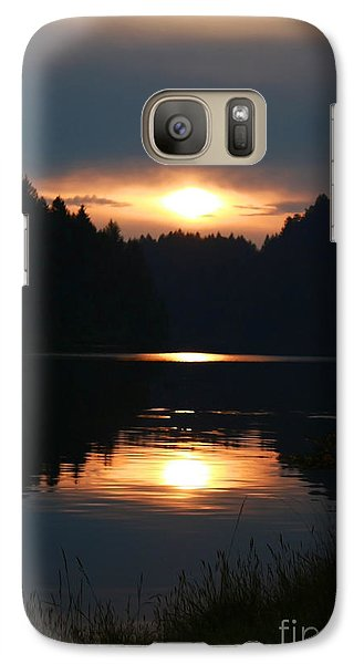 Galaxy Case featuring the photograph Sunrise Reflection by Tyra  OBryant