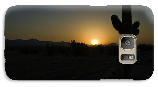 Galaxy Case featuring the photograph Sunrise Saguaro by Tom Singleton