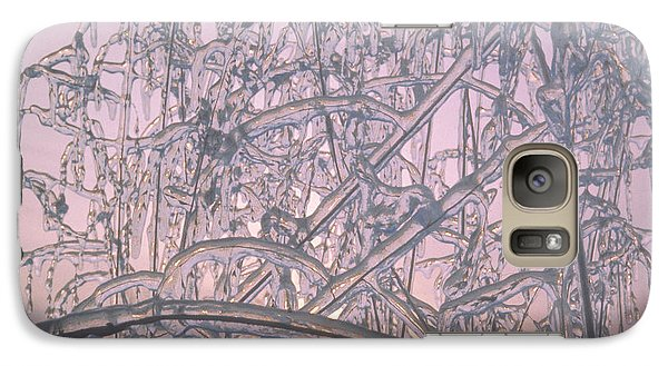 Galaxy Case featuring the photograph Sunrise Through Ice Covered Shrub by Tom Wurl