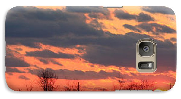 Galaxy Case featuring the photograph Sunset After The Storm by Ann Murphy