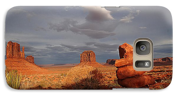Sunset At Monument Valley Galaxy S7 Case by Melany Sarafis