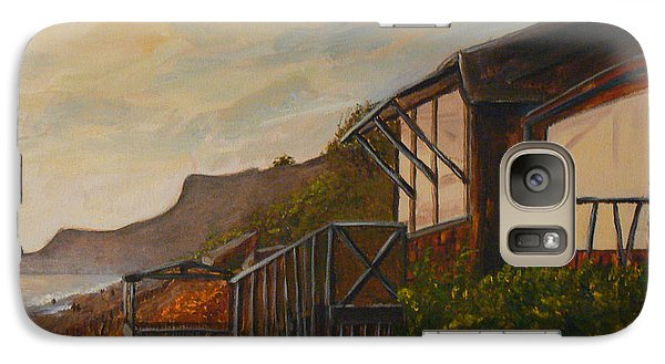 Galaxy Case featuring the painting Sunset At The Beach House by Terry Taylor