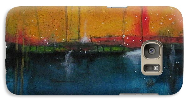 Galaxy Case featuring the painting Sunset At The Lake  # 1 by Nicole Nadeau