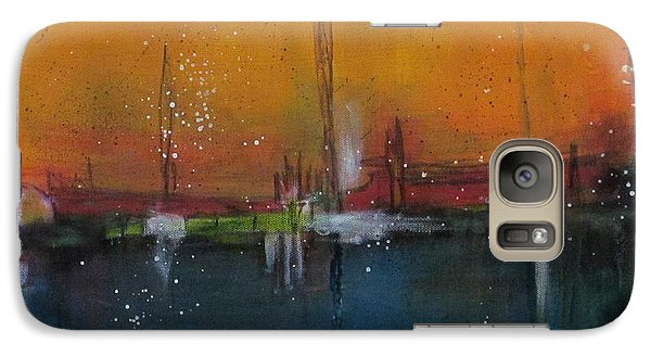 Galaxy Case featuring the painting Sunset At The Lake # 2 by Nicole Nadeau