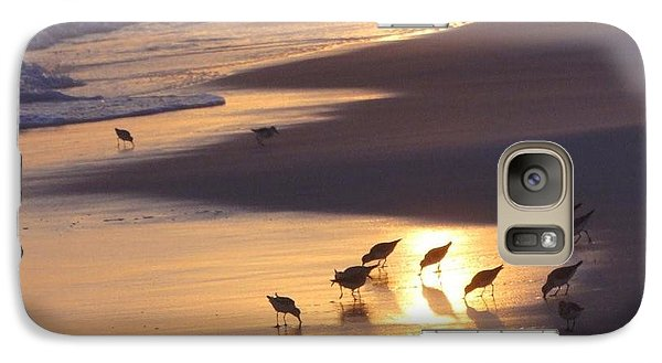 Galaxy Case featuring the photograph Sunset Beach by Nava Thompson