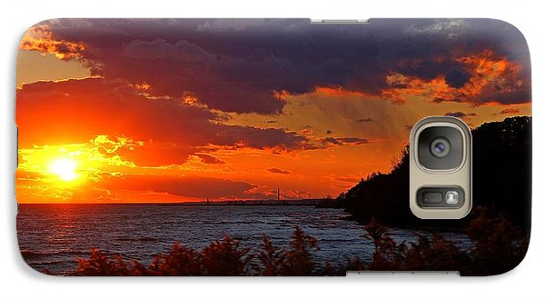 Galaxy Case featuring the photograph Sunset By The Beach by Davandra Cribbie