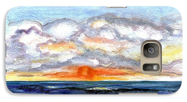 Galaxy Case featuring the painting Sunset Clouds by Clara Sue Beym